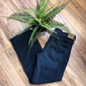 Abercrombie & Fitch High Rise Cropped Flare Jeans